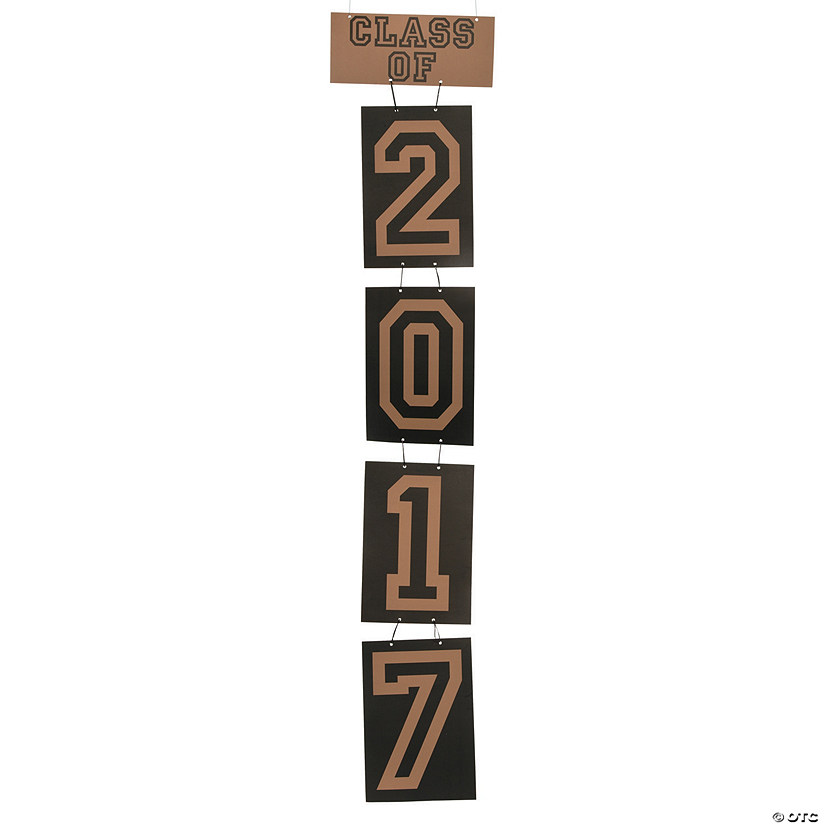 Large Class of 2017 Hanging Decoration