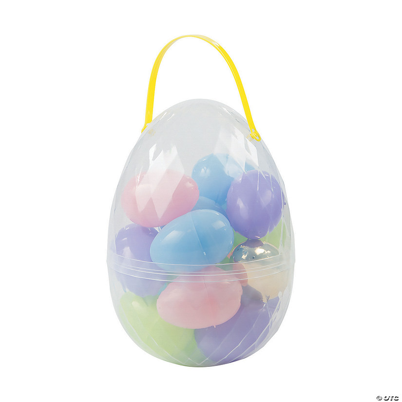 Large Egg Container with Easter Eggs - 18 Pc.