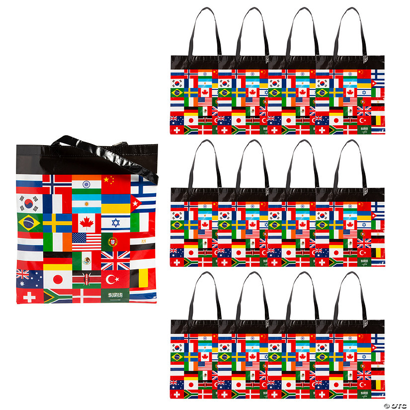 Large Flags of All Nations Tote Bags