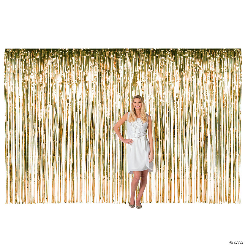 Large Gold Foil Fringe Door Curtain  sc 1 st  Marry Me by Oriental Trading : door fringe - pezcame.com