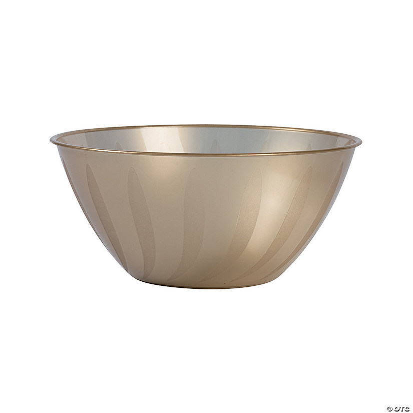 Large Gold Plastic Serving Bowl