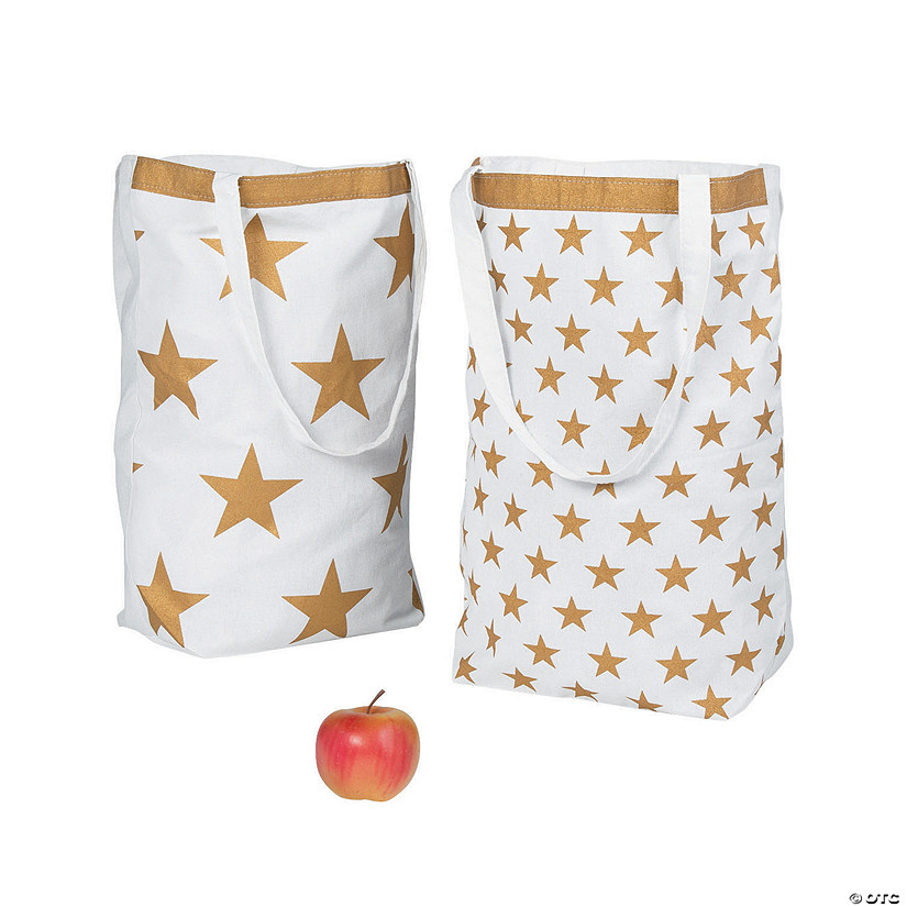 Large Gold Star Tote Bags
