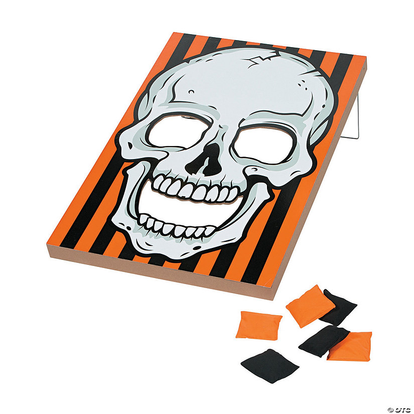 Large Halloween Skull Bean Bag Toss Game
