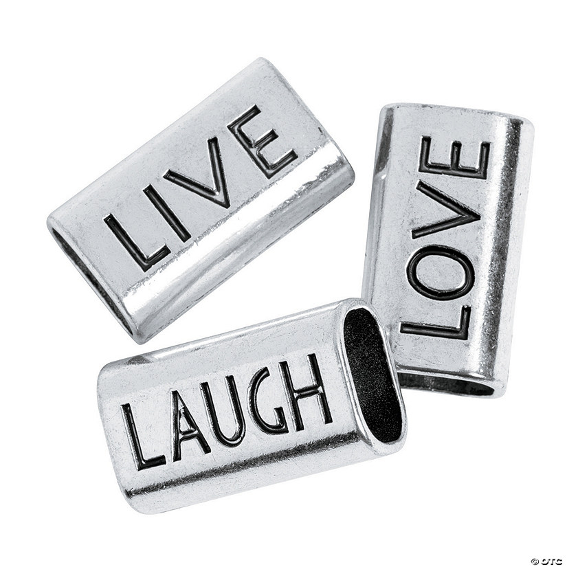 "Large ""Live Laugh Love"" Slide Charms"