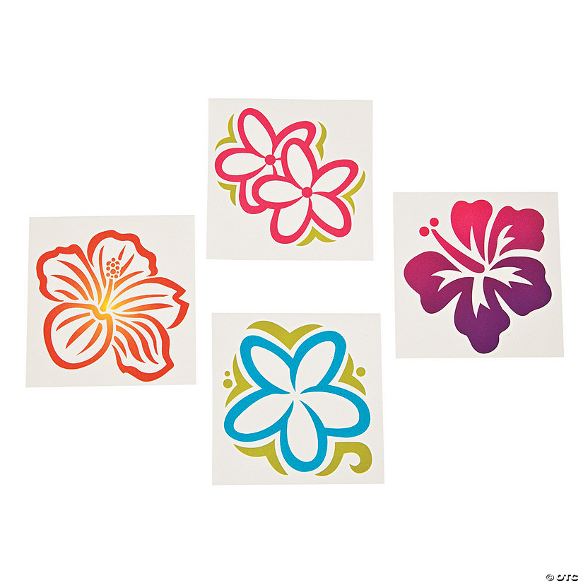 Large Luau Flower Tattoos