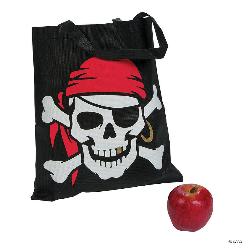 Large Pirate Tote Bags