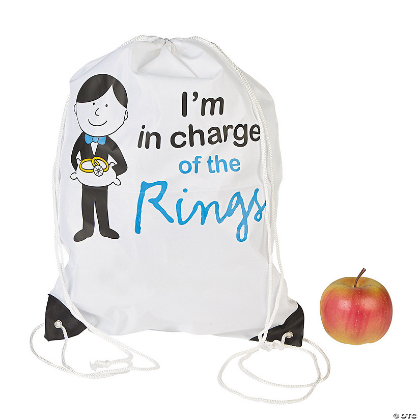 Large Ring Bearer Drawstring Bag
