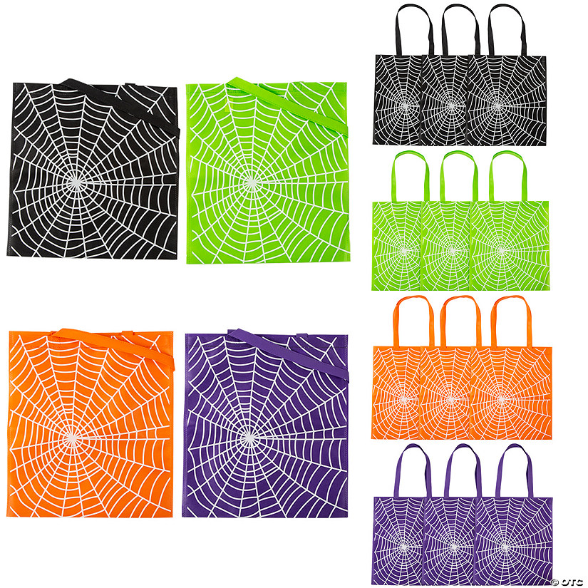 Large Spider Web Tote Bags