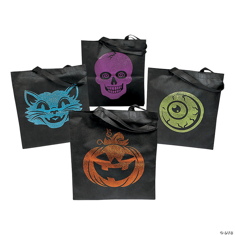 Large Spookadelic Tote Bags