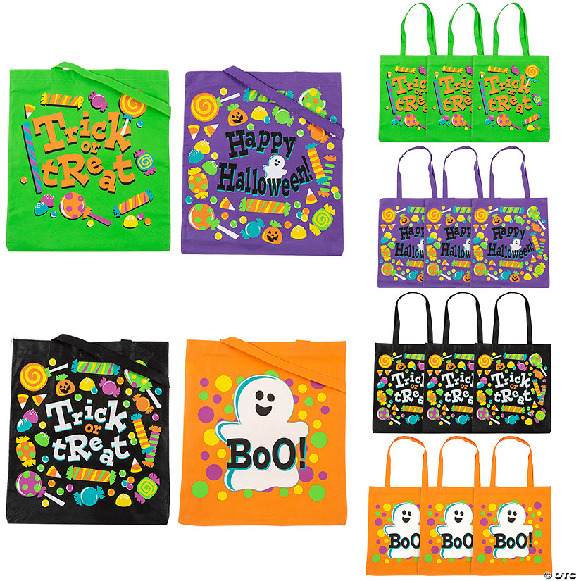 Large Trick-or-Treat Tote Bags