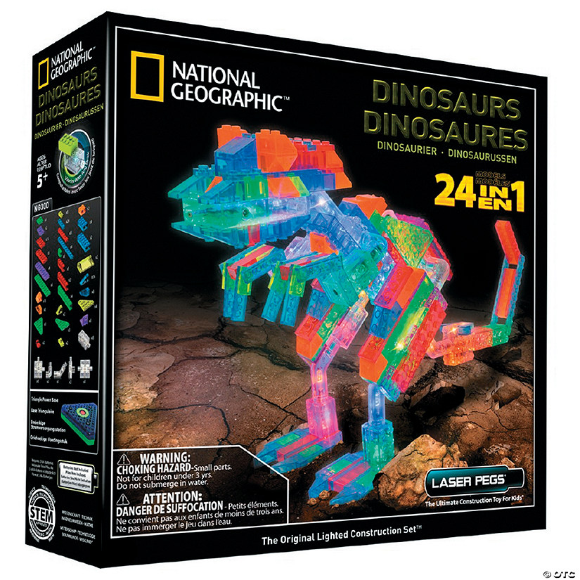 Laser Pegs National Geographic Dinosaurs 24-in-1 Construction Kit