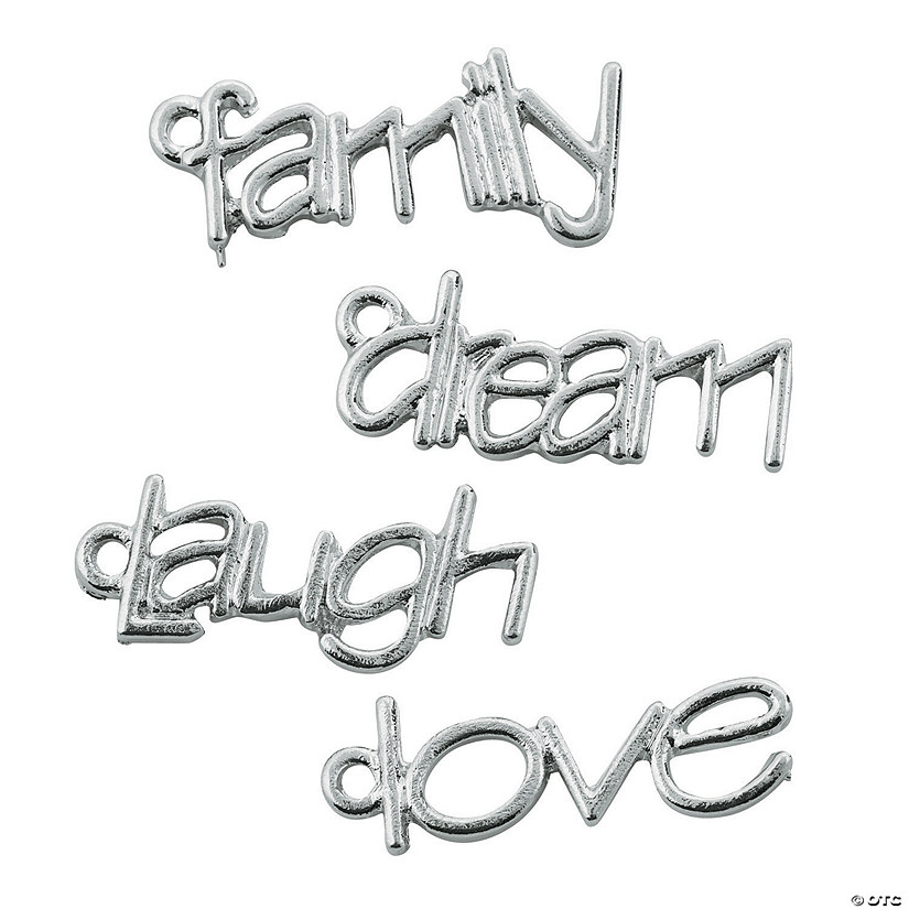 Laugh, Dream, Love, Family Charms