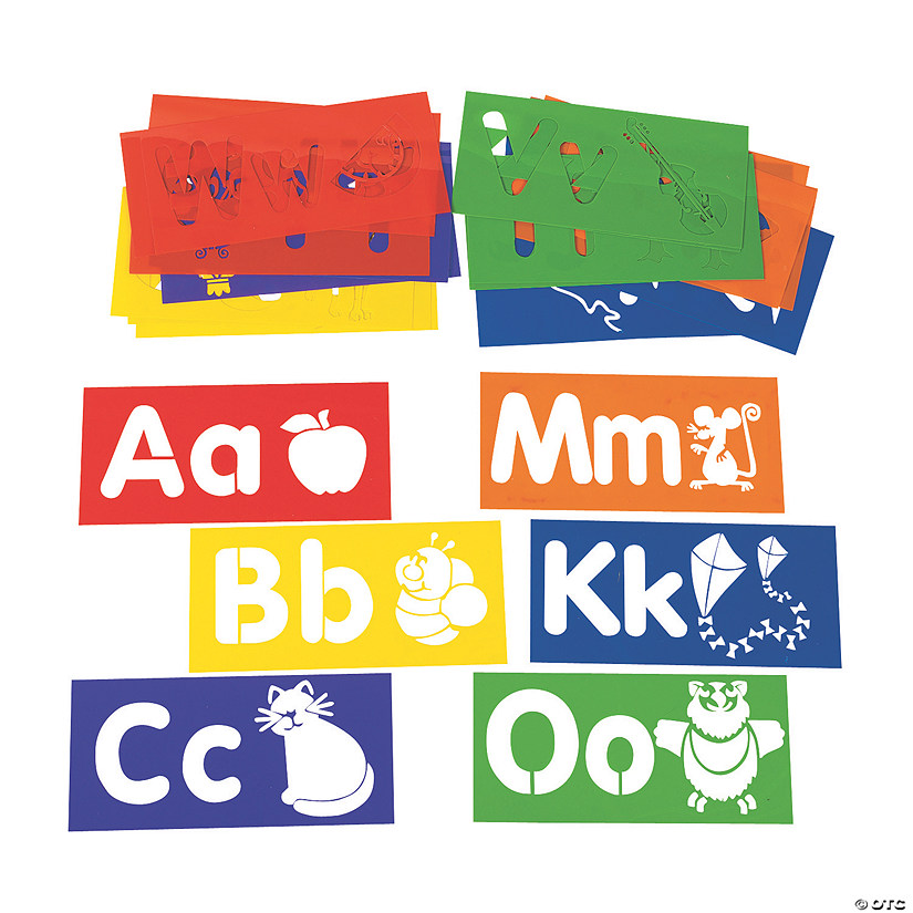 Learn Your ABCs Large Alphabet Stencils