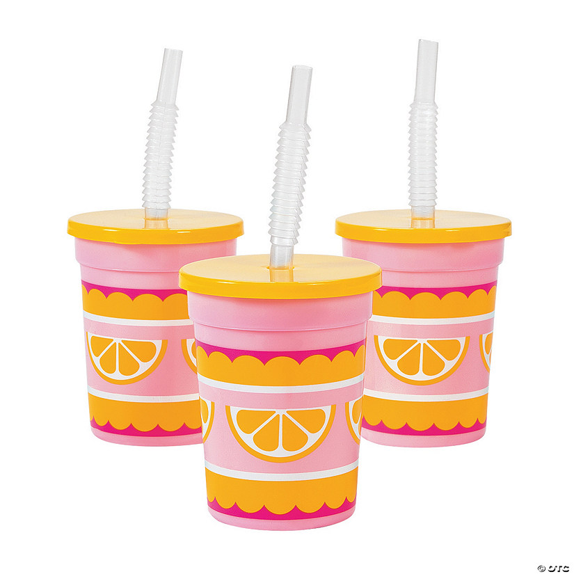 Lemonade Party Cups with Straws