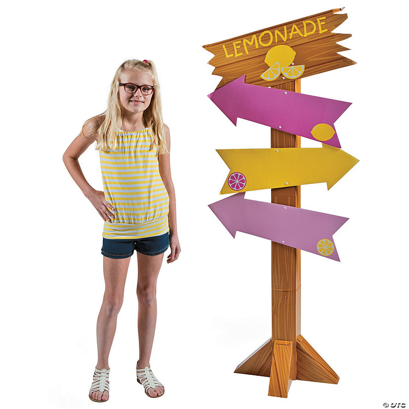 Lemonade Party Directional Sign Cardboard Stand-up