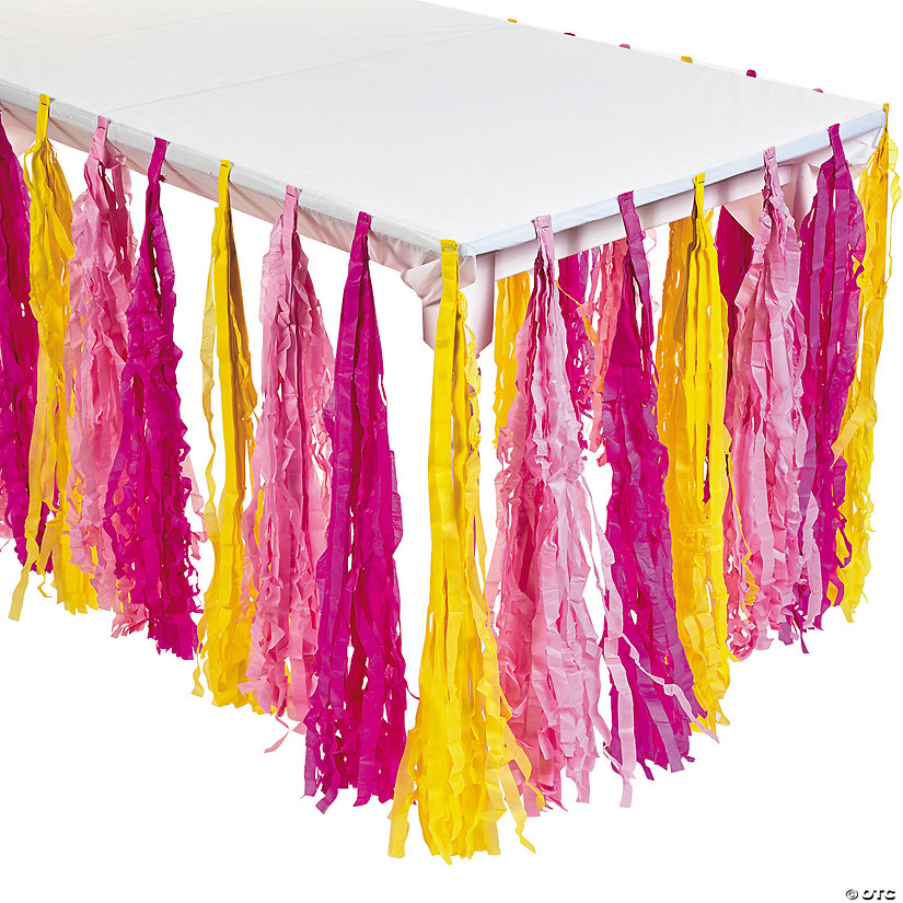 Lemonade Party Fringe Table Skirt