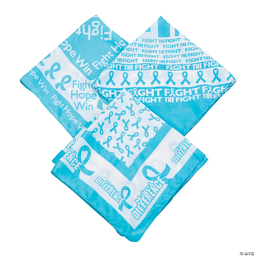 Light Blue Awareness Bandana
