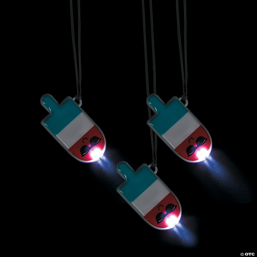 Light-Up Bomb Pop Character Necklaces