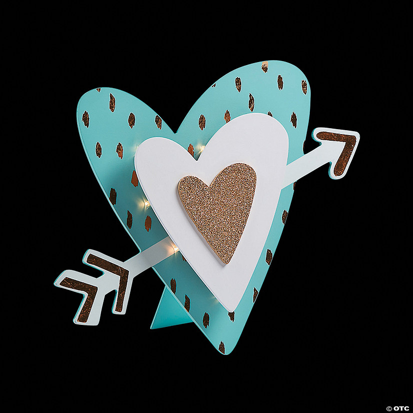 Light-Up Glittering Heart Sign