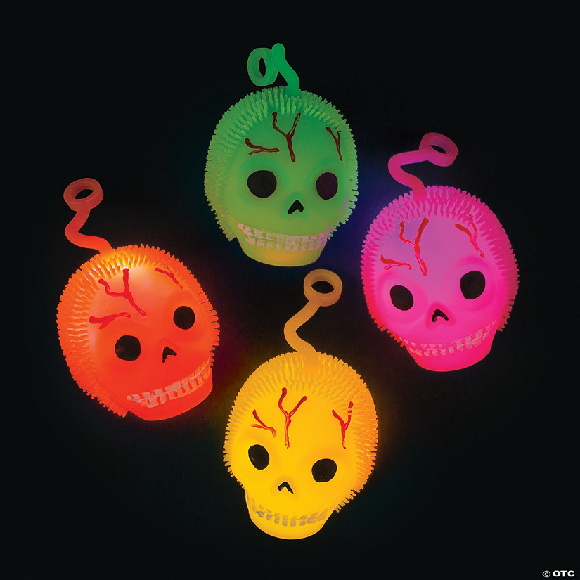 Light-Up Skull Puffer Ball YoYos