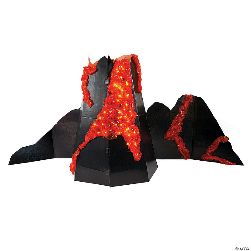 Light-Up Volcano Cardboard Stand-Up