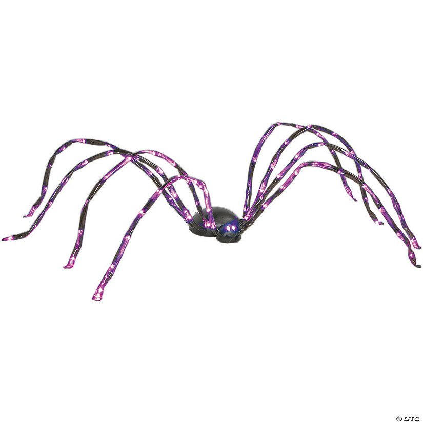 Lighted Purple Spider Halloween Décor