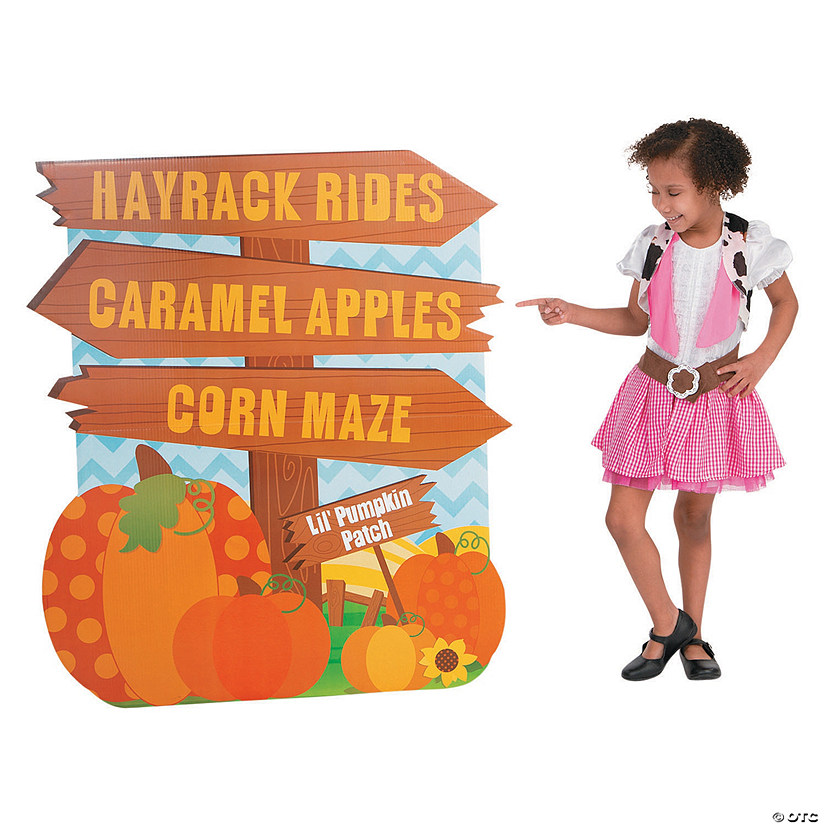 Lil' Pumpkin Directional Sign Cardboard Stand-Up