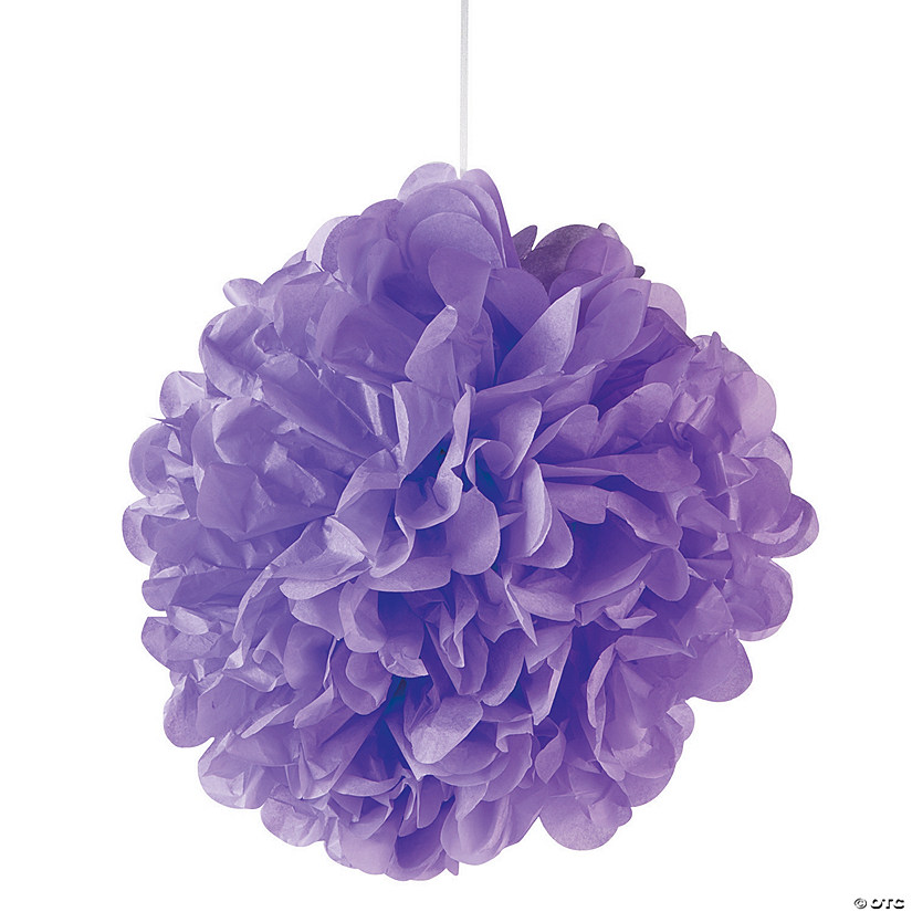 Lilac Pom-Pom Decorations