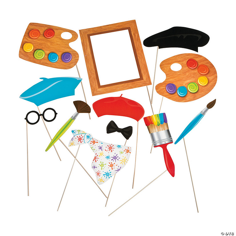 Little Artist Photo Stick Props