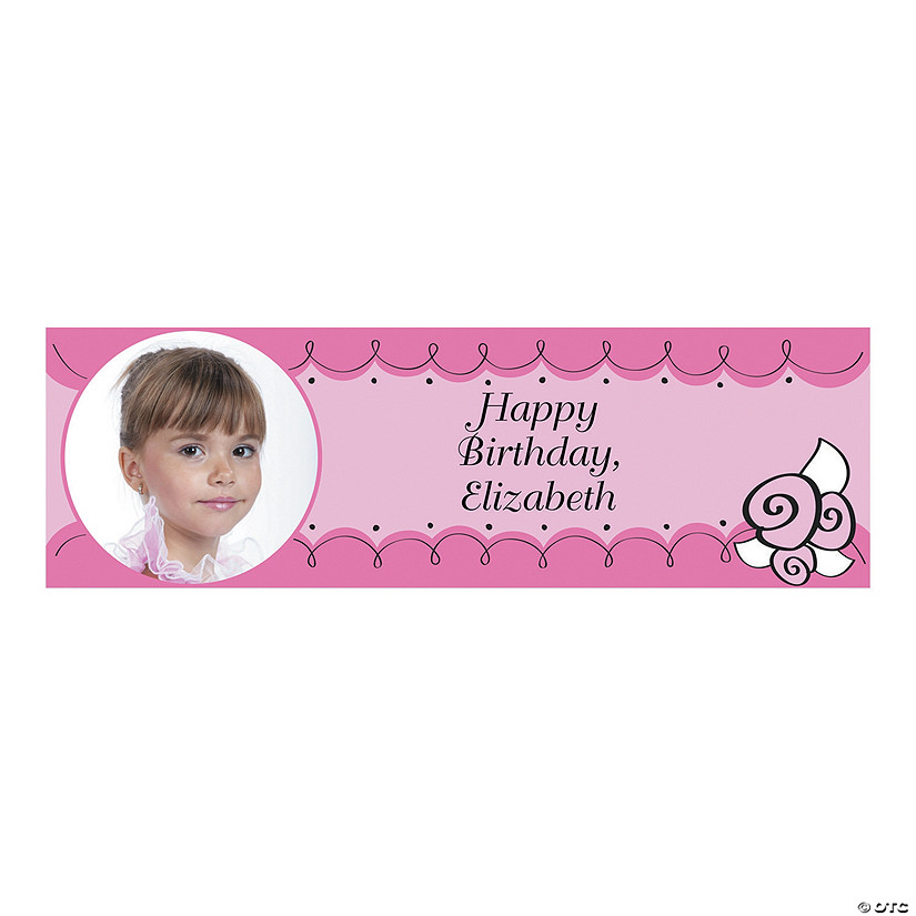 Little Ballerina Party Custom Photo Banner