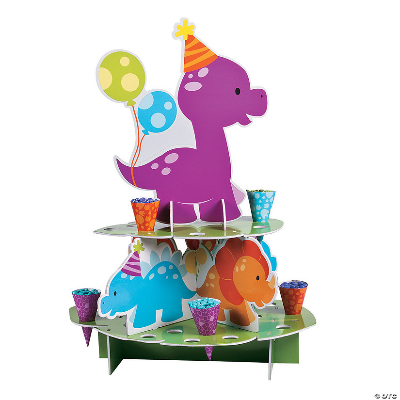 Little Dino Treat Stand with Cones