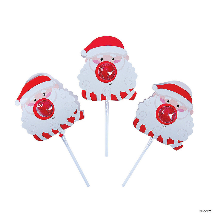 Lollipops with Santa Covers