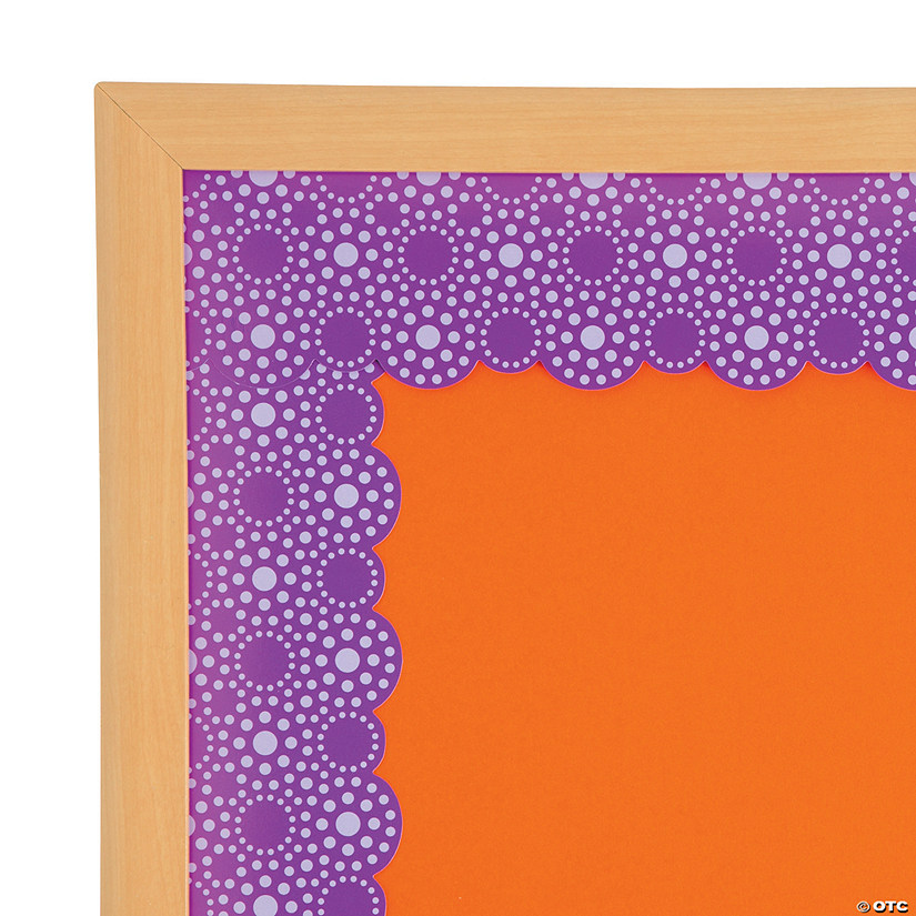 Lots of Dots Purple Bulletin Board Borders