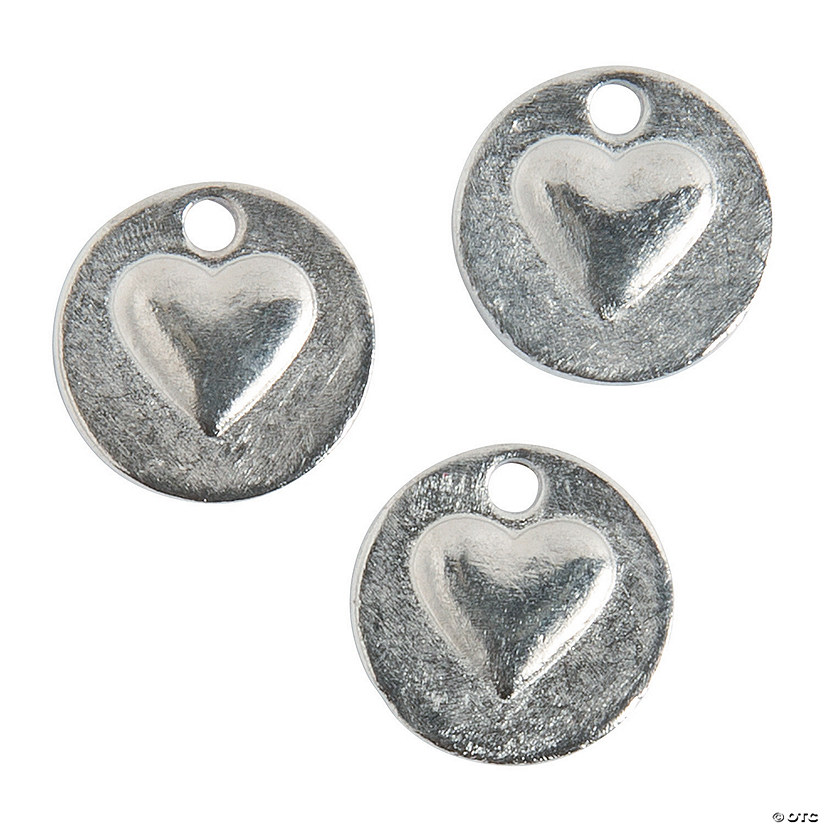 Love & Heart Silvertone Charms