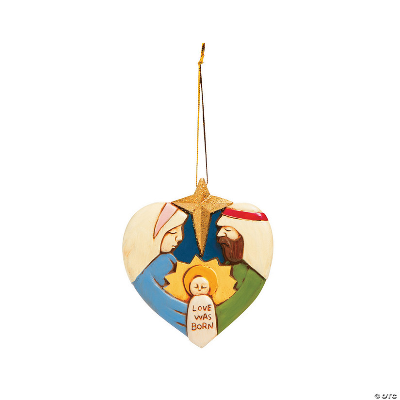 Love Was Born Nativity Ornaments
