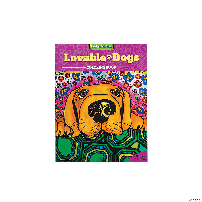 Loveable Dogs Adult Coloring Book