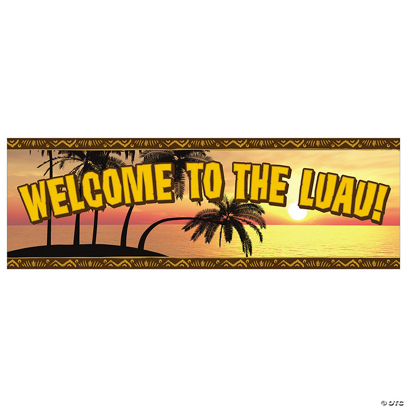 Luau Welcome Vinyl Banner