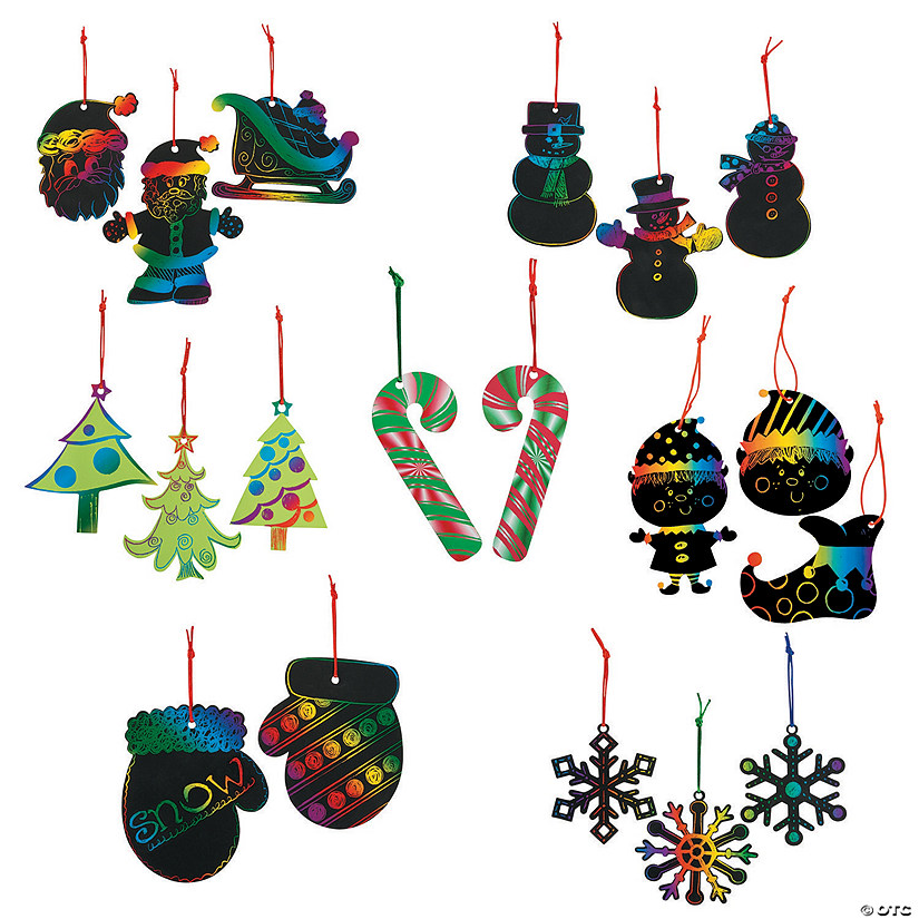Magic Color Scratch Christmas Ornament Assortment