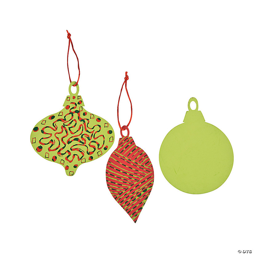 Color Your Own Religious Christmas Ornaments: Magic Color Scratch Christmas Ornaments