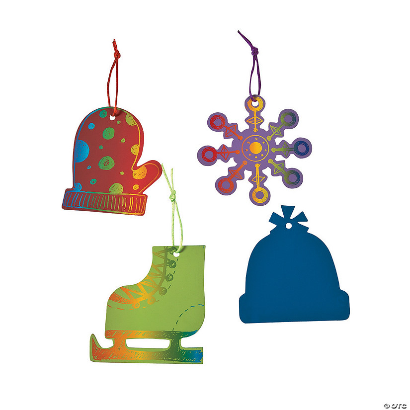 Color Your Own Religious Christmas Ornaments: Magic Color Scratch Winter Christmas Ornaments