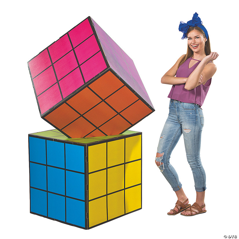 Magic Cube Cardboard Stand-Up