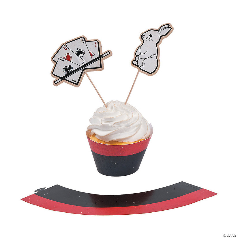 Magical Party Cupcake Wrappers with Picks