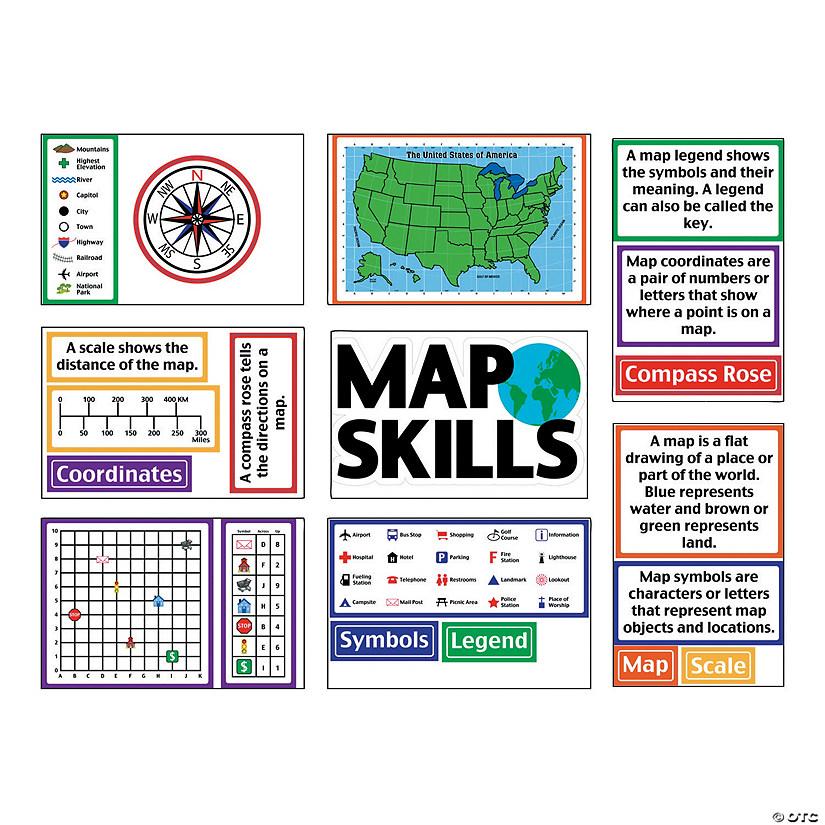 Map Skills Bulletin Board Set - Discontinued
