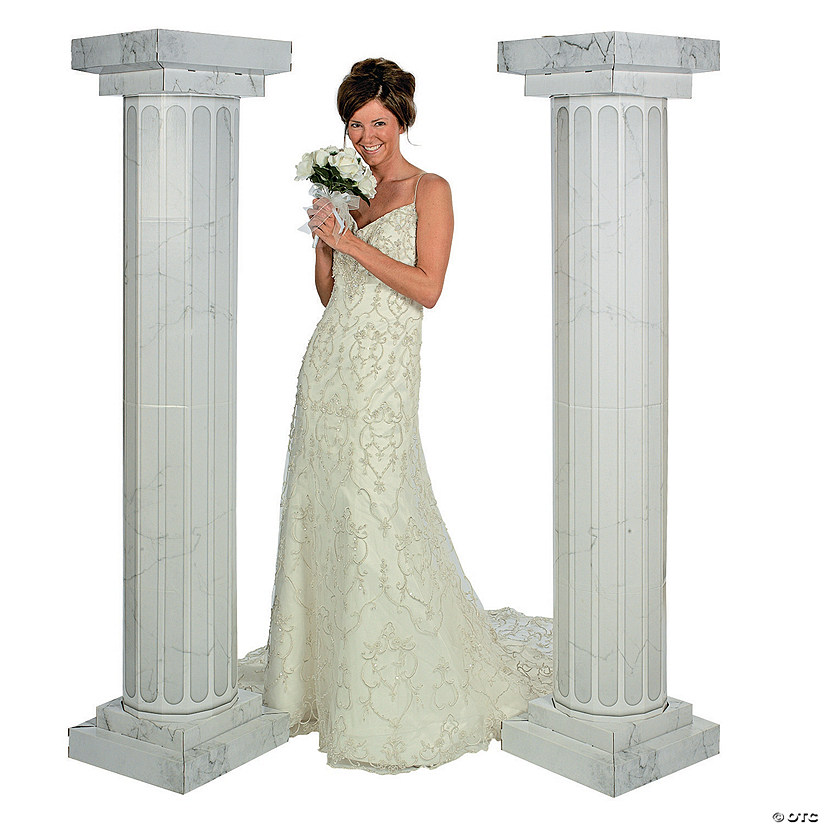 Marble-Look Fluted Columns - 6 ft.