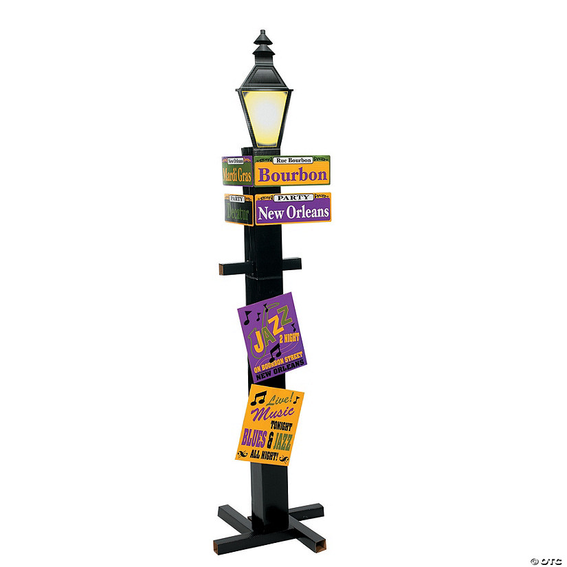 Mardi Gras Directional Sign Cardboard Stand-Up