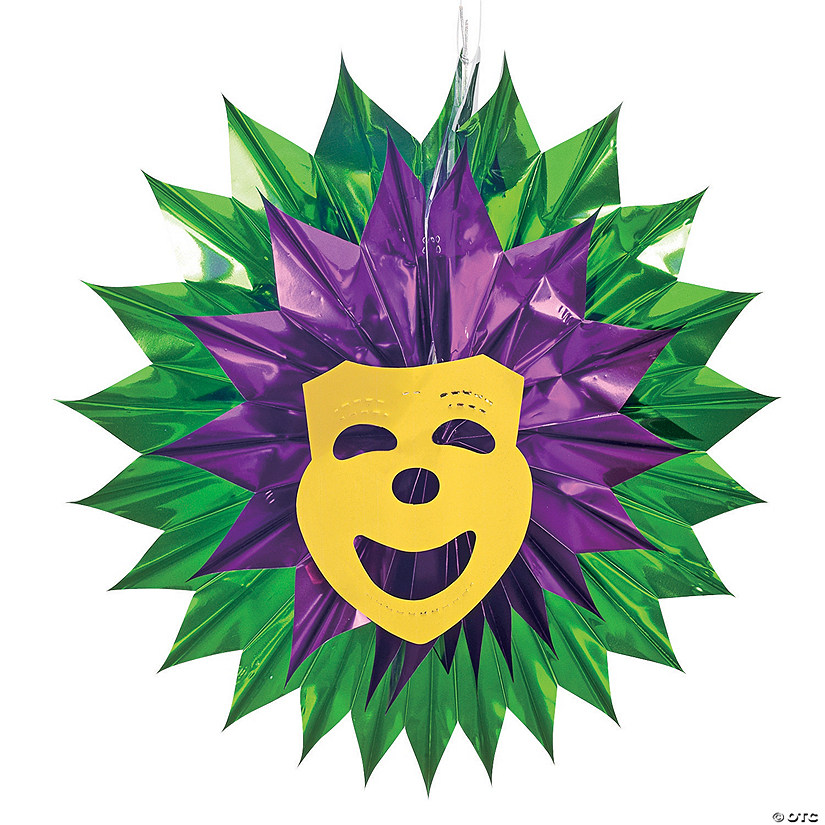 Mardi Gras Mask Hanging Fan