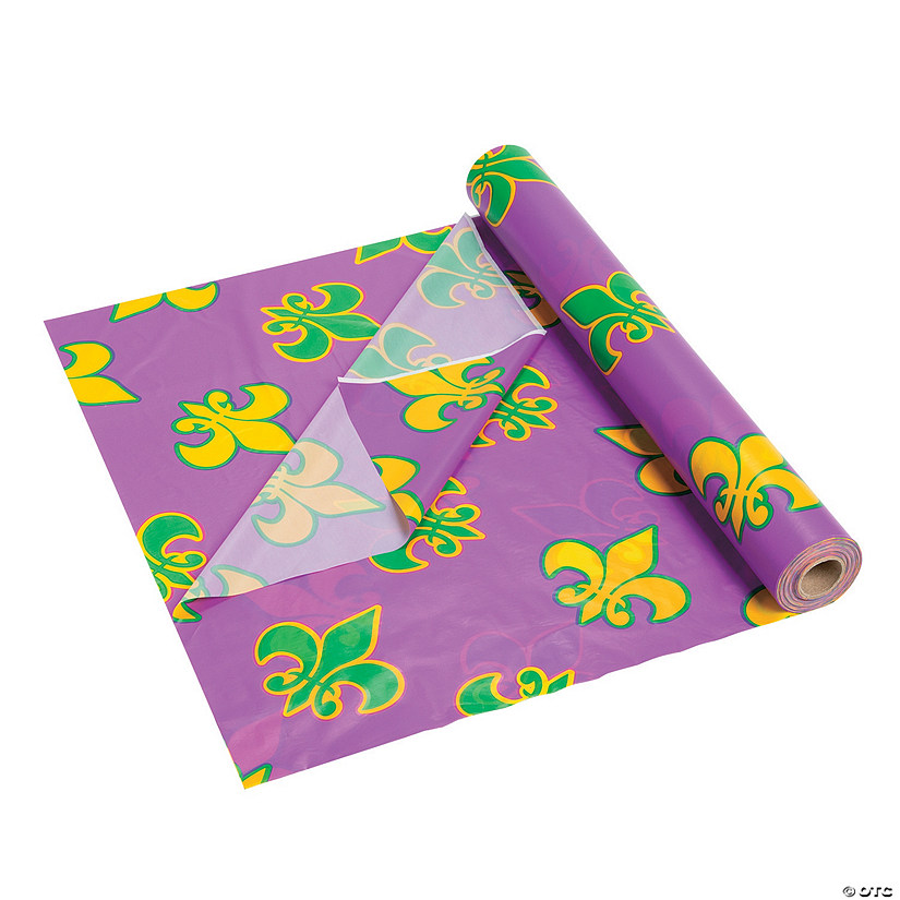 Mardi Gras Plastic Tablecloth Roll