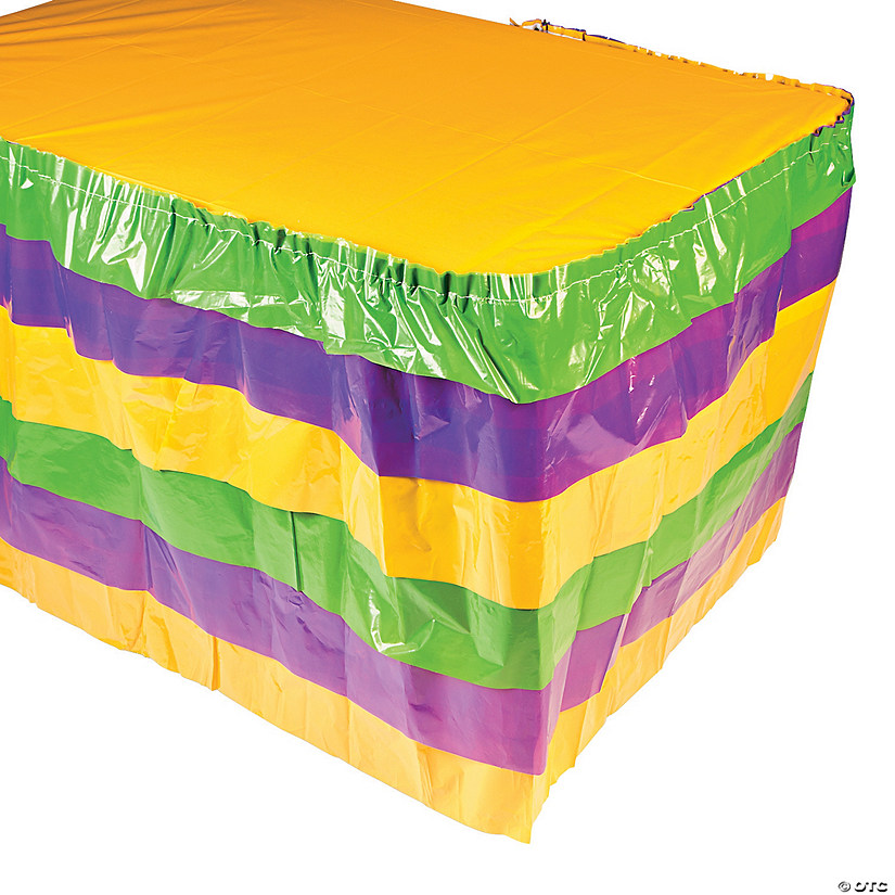 Mardi Gras Ruffle Table Skirt