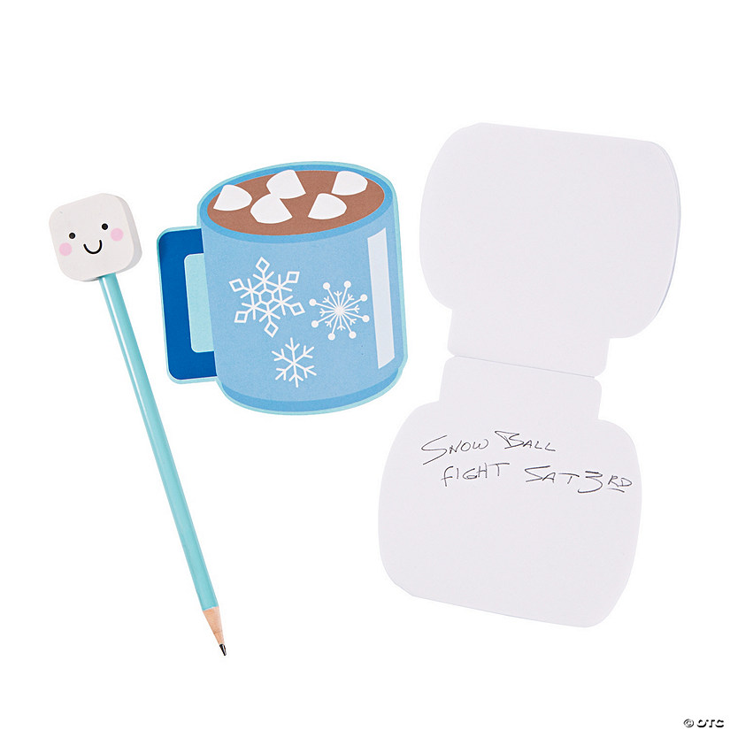 Marshmallow & Hot Cocoa Notepads with Pencils