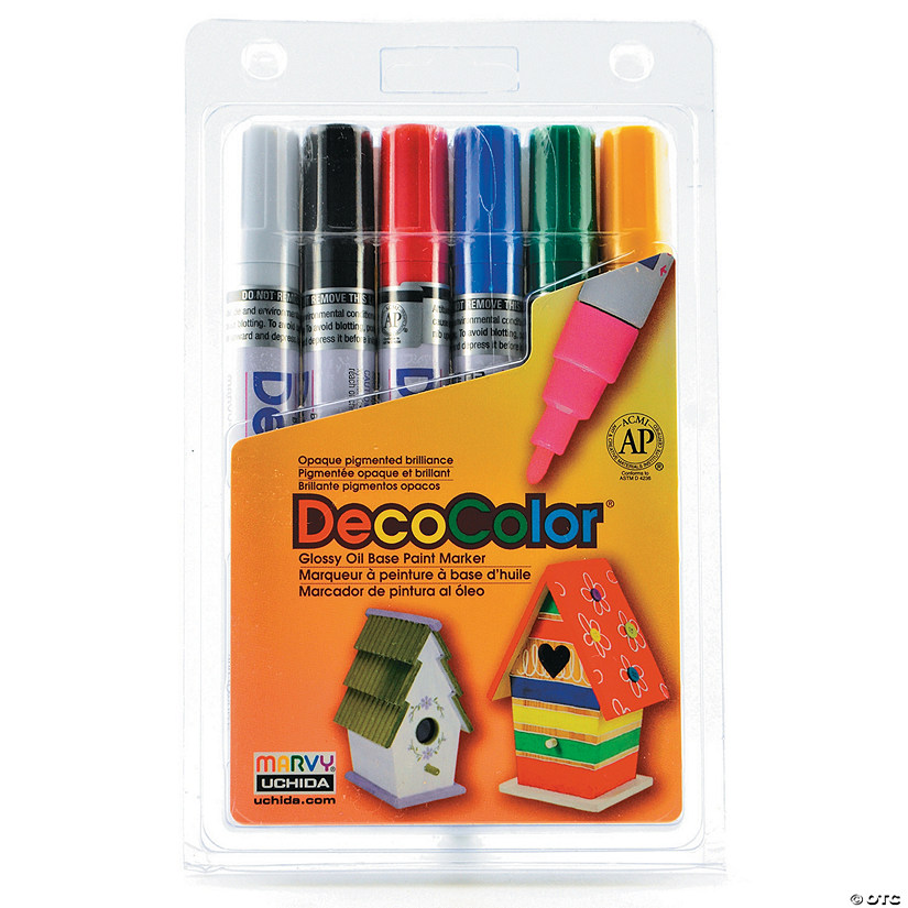 Marvy Uchida DecoColor Paint Markers Broad Set